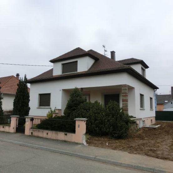 Maison individuelle sur terrain de 9 ares